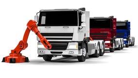 Chaîne de montage de camion Photo libre de droits
