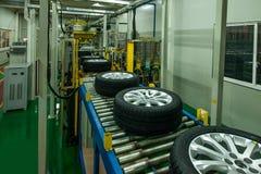 Chaîne de montage de pneu d'automobile de branche de Chongqing Changan Minsheng Logistics Chongqing Photographie stock
