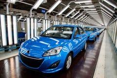 Chaîne de montage de voiture de Changan de branche de Pékin d'automobile de Changan Image libre de droits