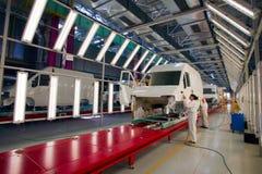 Chaîne de montage de voiture Ford Sollers Photographie stock libre de droits