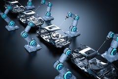 Chaîne de montage de robot illustration libre de droits