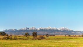 Chaîne de montagne élevée de Tatras Photos libres de droits