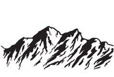 Chaîne de montagne illustration stock