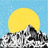 Chaîne de montagne Images libres de droits