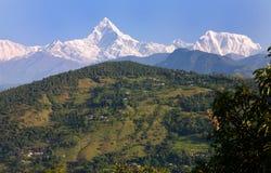 Chaîne de montagne d'Annapurna Photo libre de droits
