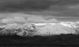 Chaîne de montagne d'Oquirrh, Utah Photographie stock libre de droits