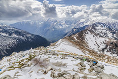 Chaîne de montagne dans le haut Tatras photos stock