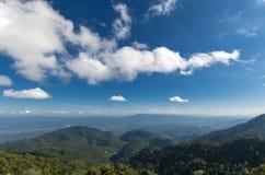 Chaîne de montagne dans le support de smokey Photographie stock libre de droits