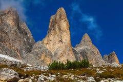 Chaîne de montagne dans les dolomites, Italie Photo libre de droits