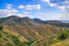 Chaîne de montagne de Kara-Dag Images stock