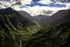 Chaîne de montagne de Kauai photo stock