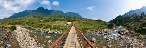 Chaîne de montagne de privilège de Hoang Images libres de droits