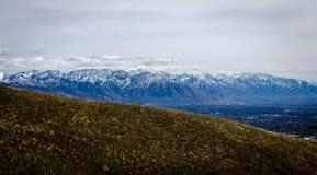 Chaîne de montagne de Wasatch, Utah Images libres de droits
