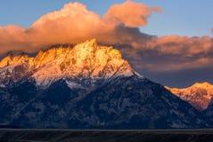 Chaîne de montagne grande de Teton Photos stock