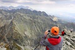 Chaîne de montagne haut Tatras en Slovaquie Photo stock