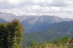 Chaîne de montagne Psekhako photos libres de droits
