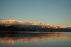 Chaîne de montagne remarquable Photo stock