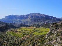 Chaîne de montagnes de Tramuntana sur Majorca Images libres de droits
