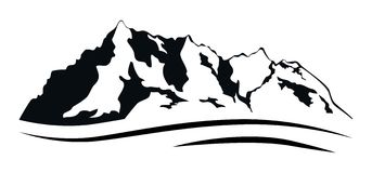 Chaîne de montagnes sur le blanc Illustration Libre de Droits