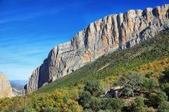 Chaîne de Montsec de Montrebei, Catalogne Photographie stock libre de droits