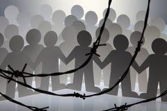 Chaîne de personnes Images libres de droits