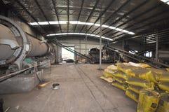 Chaîne de production d'engrais organique Photos stock
