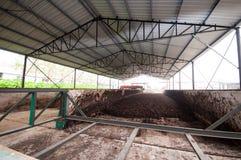 Chaîne de production d'engrais organique Images libres de droits