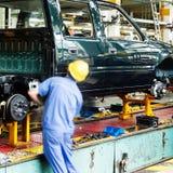 Chaîne de production de camion d'Ickup Images libres de droits