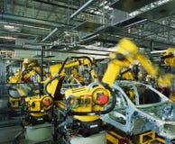 Chaîne de production de véhicule Photos libres de droits