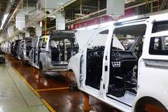 Chaîne de production de voiture Photographie stock libre de droits