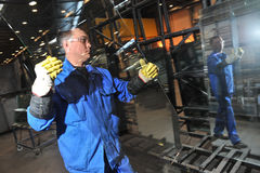 Chaîne de production en verre Image libre de droits