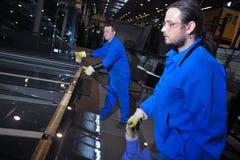 Chaîne de production en verre Images stock