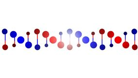 Chaîne de protéine d'ADN Photos stock