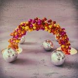 Chaîne des boules colorées Photos libres de droits