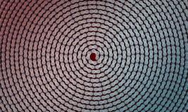 Chaîne en spirale abstraite de bicyclette illustration de vecteur