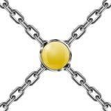 Chaîne et bijou 3D en métal Illustration de vecteur Images stock
