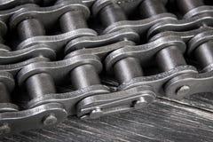 Chaîne industrielle de rouleau Images stock