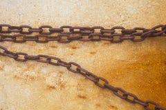 Chaîne sur le mur Photographie stock libre de droits