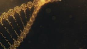 Chaîne tournante d'ADN de plexus avec des impulsions courant - la version orange illustration de vecteur