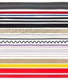 Chaînes de caractères, amorçages, fils et bandes sur le blanc Photos stock