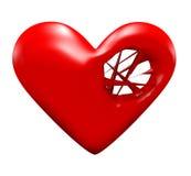 Chaînes de caractères de coeur Images stock