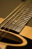 Chaînes de caractères de guitare Images libres de droits