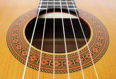 Chaînes de caractères de guitare Photo libre de droits