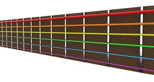 Chaînes de caractères de guitare Image libre de droits