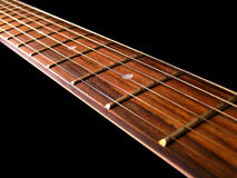 Chaînes de caractères de guitare Photos libres de droits