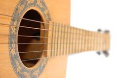 chaînes de caractères de son de trou de guitare Photo libre de droits
