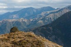 Chaînes de montagne en Lewis Pass Photographie stock