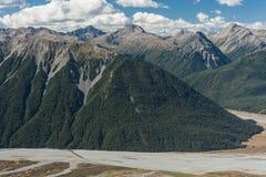 Chaînes de montagne en parc national du passage d'Arthur Photo stock