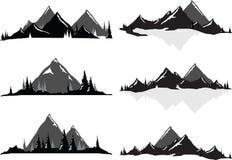 Chaînes de montagne et scènes scéniques Illustration de Vecteur