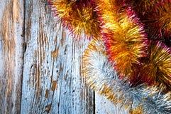 Chaînes de Noël Vue supérieure Copypace Photographie stock